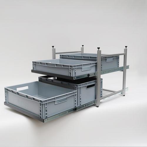 Remectro-Campervan-Teleskopauszug-mit-Fachboeden-Boxen