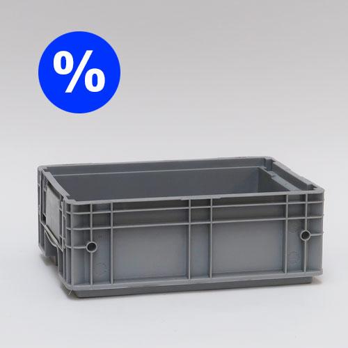 Remectro - Stapelbox % - grau 40x30x15cm