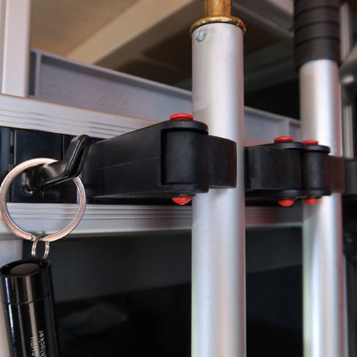Remectro-Klemmhalter-Schiene-Anwendung